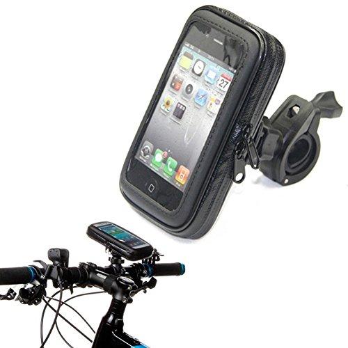 Bars Scooter 26 (Queena City Wasserdichtes Bike Fahrrad Rahmen Tasche Cover Lenkstange Roll Bar Mount Halterung Wiege für iPhone 6/6S/Plus, bis zu 4.8-inch, schwarz, M)