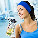 Nutrocy Premium Quality 32oz/1000 Ml Sport Fruit Infuser Water Bottle, Toxin-Free, Shatter And Impact Resistant With Grey Insulated Sleeve Combo Set + Bonus Cleaning Brush, Stainless Steel Shaker Ball And E Book