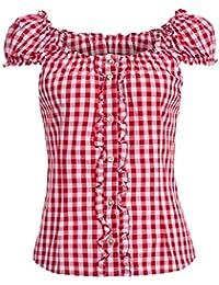 2b1940a3a8c4 Almsach Damen Trachten-Mode Trachtenbluse Carmen traditionell geschnitten Gr.32-50  in verschiedenen