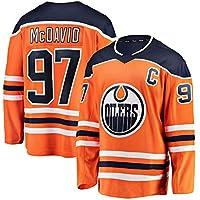 McDavid # 97 Oiler Hockey sobre Hielo Ropa Deportiva Manga Larga Camiseta de Hockey sobre Hielo Equipo Competencia Sudadera Entrenamiento Ropa Real Jersey M-3XL