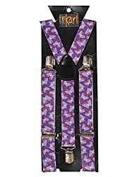Tiekart men purple suspenders