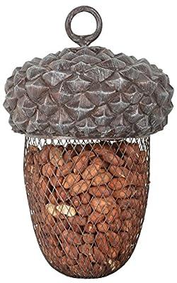 Fallen Fruits Ltd ACORN BIRD FEEDER Grey from Esschert Design