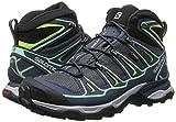 Salomon X Ultra Mid 2 GTX, Damen Trekking- & Wanderstiefel, Blau (Grey Denim/Deep Blue/Lucite Green), 39 1/3 EU (6 Damen UK) -