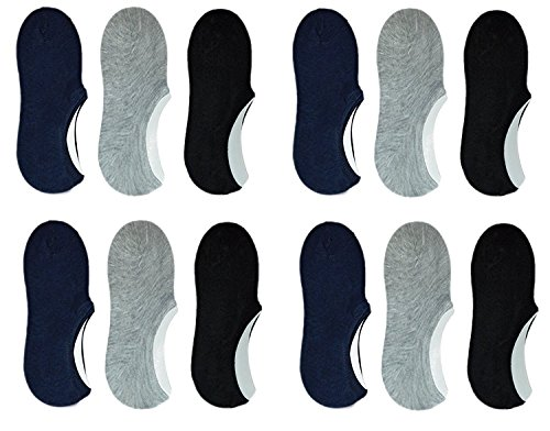 Zacharias Quality 100% Cotton Loafer Socks,Ankle Socks For Men and Women (12 Pairs)