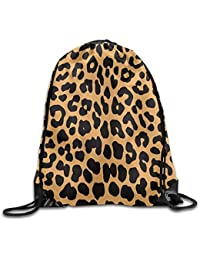 guolinadeou Cool Animal Leopard Print Print Drawstring Backpack Rucksack Shoulder Bags Gym Bag Sport Bag