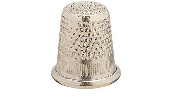 Colonial Needle Dome Top Thimble Nickel Small
