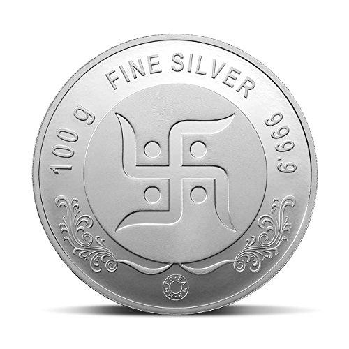 Mmtc Lakshmi Ganesh Series 999 9 Purity 100 Gm Silver Coin