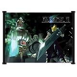 Final Fantasy VII nathwani desplazamiento de pared Póster de juego de Tela (106,68 cm x 81,28 cm) pulgada{0}