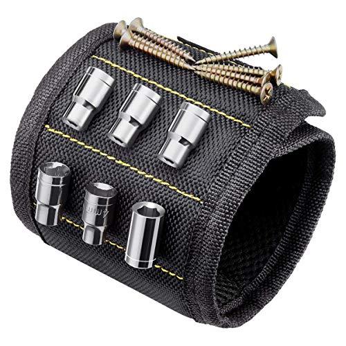 TIMESETL Magnetisches Armband werkzeug, Magnetarmband handwerker, Einstellbare Magneten Armbänder für Holding Werkzeuge, Nägel, Schrauben, Bohrungen und kleine Werkzeuge