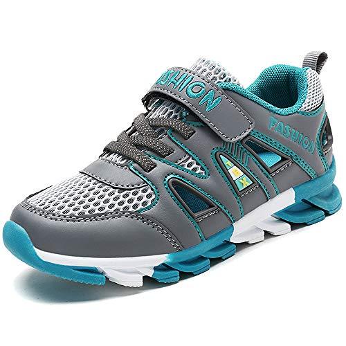 Gaatpot Jungen Sandalen Sommer Kinder Klettverschluss Sandaletten Outdoor Atmungsaktiv Mesh Sportschuhe Sneakers Schuhe Grün 36 EU = 37 CN