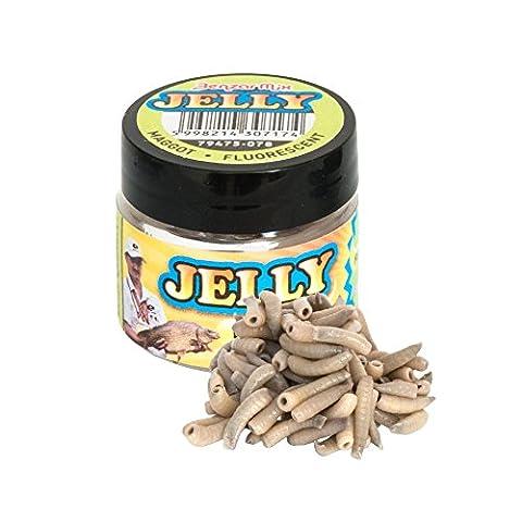 ENERGOFISH Benzar Jelly Baits Maggot, Glow, 100pcs/jar