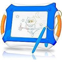 TTMOW Pizarras Mágicas Colorido con Pluma, Almohadilla Borrable de Escritura y Dibujo, Juguetes Educativos para niños 2 años 3 años 4 años (Azul)