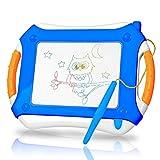 TTMOW Lavagna Magnetica a Colori Addensato Giocattoli Bambini 4 Colori Lavagnetta da Disegno Cancellabile Doodle Magna - Giocattoli Educativo per Bambini (Blu)