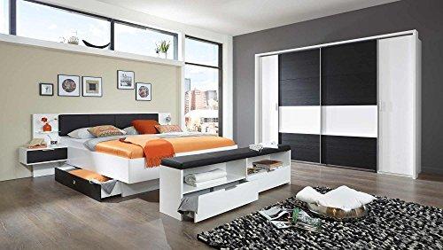 lifestyle4living Schlafzimmer, Schlafzimmermöbel, Set komplett, Komplettset, Schlafzimmereinrichtung, Komplettangebot, Einrichtung, alpinweiß,
