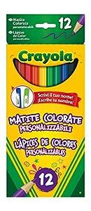 Crayola 3620 - 12 Lápices de Colores Personalizables , Modelos/colores Surtidos, 1 Unidad