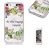 For iTouch 5/6 Case [with Free Screen Protector],Funyye Fashion lovely Lightweight Ultra Slim Anti Scratch Transparent Soft Gel Silicone TPU Bumper Protective Case Cover Shell for iTouch 5/6 - Rose