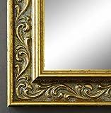 Online Galerie Bingold Wandspiegel Spiegel Badspiegel - Verona 4,4 - Gold - 70 x 120 - Außenmaß inkl. Massivholz-Rahmen - viele Größen verfügbar - Modern, Barock, Antik, Vintage