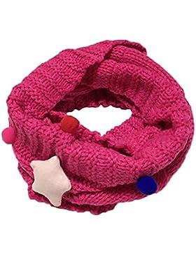 Yosemite bebé niñas suave bufanda Star cuello de punto invierno caliente bufanda cuello Wrap fucsia talla única