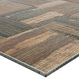 Mosaikfliesen Holzoptik Metall Selbstklebend Reynosa Braun | Wandverkleidung Badfliesen Bad Mosaikstein