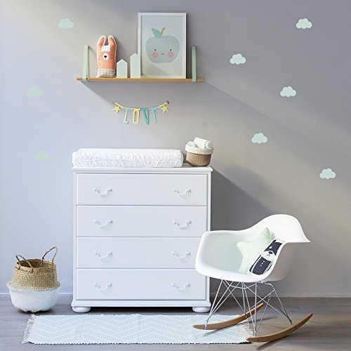 Kenay Home Clouds A3 Adhesivo Decorativo, Vinilo, Verde Menta, 42x30x0.1 cm