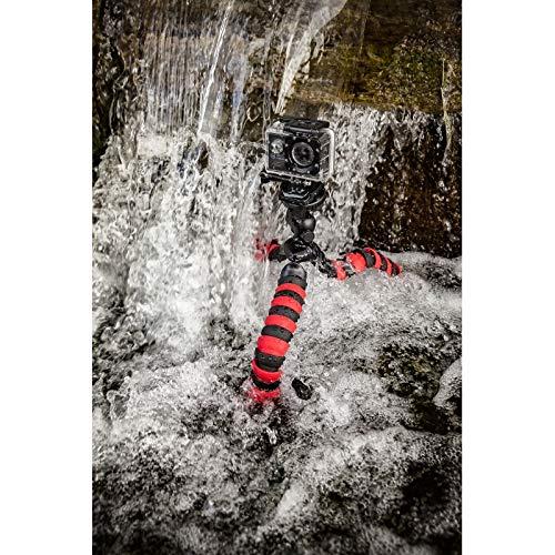 TronicXL Premium - Treppiede Flessibile per Fotocamera, 28 cm, Compatibile con Actioncam GoPro Hero Apeman Rollei WimiUS Victure Sony Denver Campark Kodak Somikon Olympus