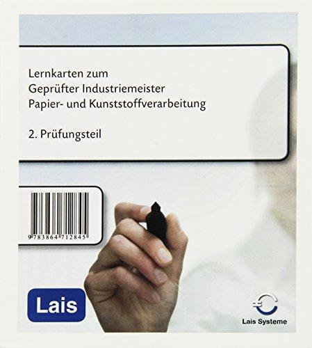 Lernkarten zum Industriemeister Papier- und Kunststoffverarbeitung: 2. Prüfungsteil - Betriebswirtschaftliche Fächer