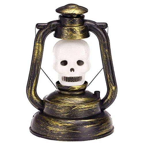 TOOGOO(R) Vintage Retro Art Halloween Dekoration Laterne Stimmungslichter, Nachtlicht Gartenlicht mit schrecklicher Stimme fuer Party - Hexe (Halloween Dekoration Vintage)
