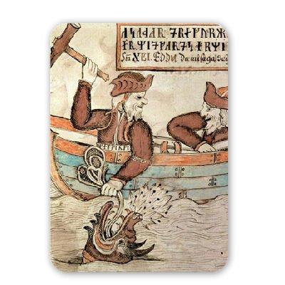 Thor pesca per il serpente di Midgard,..-Tappetino mouse art247mouse in gomma naturale di alta qualità-Tappetini Tappetino per Mouse