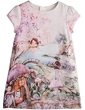 Igemy Sommer Baby Kinder Mädchen Prinzessin Kleid Vestidos Drucken Partykleid Kostüm Kleidung