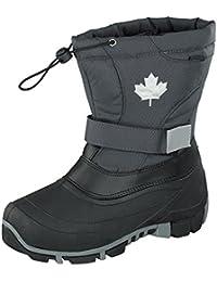 Indigo Canadians Winter Stiefel Boots 467-185 gefüttert in Dunkelgrau