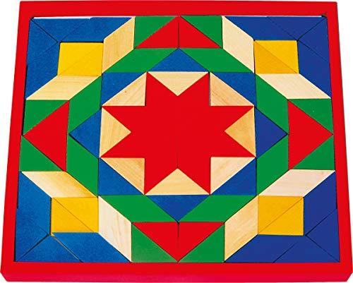 small foot 1038 Mosaik mit 80 bunten Steinen und einem Basisbrett aus Holz -