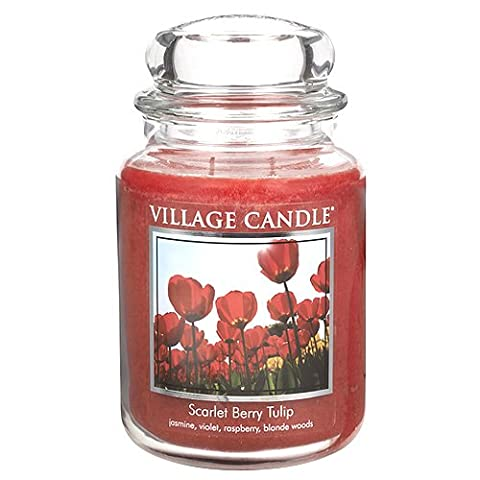 Village Candle 106326190 Candle, Scarlet Berry Tulip - Red