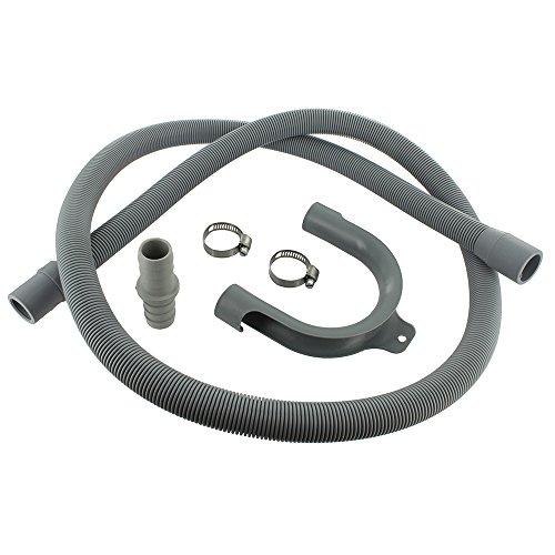 Europart Kit d'extension de tuyau de vidange de lave-linge universel de 1,5m avec raccord de 18x 22mm