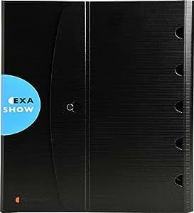 Exacompta - Réf. 56034E - Exashow Classeur de Présentation 4 anneaux 30mm Exactive - Polypropylène - Noir