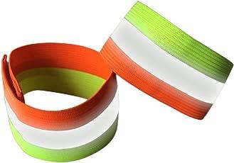 Leezo 2pcs reflektierendes Bügel-Sicherheits-Armband-Leichtes bewegliches Handgelenk-Band-Gurte für Das Laufen, Den gehenden Hund, Nacht Radfahren, rüttelnd und Wandern - 6 Farben