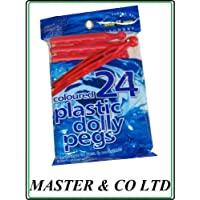 24 PLASTIC DOLLY PEGS