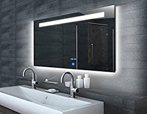 touch 140 miroir de salle de bain avec clairage led. Black Bedroom Furniture Sets. Home Design Ideas