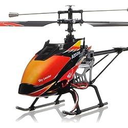 WLToys s-idee 01142 | V913 - Helicóptero por control remoto (con pantalla LCD, 2,4 Ghz, canal 4,5) Para uso en interior y exterior. Con control Gyro y 2,4 GHz integrados. Listo para volar.