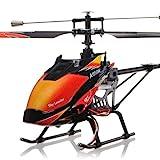 s-idee® 01142 | V913 4.5 Kanal 2,4 Ghz Heli Hubschrauber RC ferngesteuerter Hubschrauber/Helikopter/Heli mit LCD Display und GYROSCOPE-TECHNIK + 2,4Ghz TECHNOLOGIE!!! für INNEN und AUSSEN brandneu mit eingebautem GYRO und 2.4 GHz Steuerung! FLUGFERTIG!