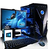 VIBOX Gaming PC - Warrior Package 4XLW - 4.1GHz AMD FX 6-Core CPU, Radeon RX 460 GPU, Extreme, Desktop Computer with Game Bundle, 22