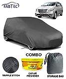 Fabtec Heavy Duty Car Body Cover for Toyota innova Stoarge Bag & Car Air Freshener Combo!