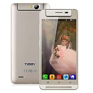 "Timmy M9 3G Smartphone 5.0"" Android 4.4 MTK6582 1.3MHz Quad-Core Dual SIM, 1GB RAM+8GB ROM, fotocamera rotante, OTG Smart Wake Smart Gestures Cellulare (Oro)"
