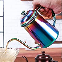 ELECTROPRIME Stovetop Gooseneck Tea Coffee Kettle Stainless Steel Water 650ml Colorful