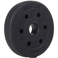 SPRINGOS - Discos para pesas (1 kg, 1,25 kg, 2,5 kg, 5 kg, 10 kg, 15 kg, 20 kg, de plástico, con peso) para acondicionamiento físico, 1,25 kg.