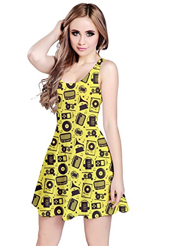 CowCow - Robe - Femme Black Treble Yellow Radio