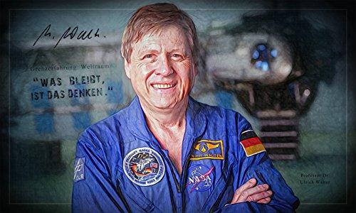 Kunst Druck Bild Prof. Dr. Ulrich Walter Astronaut Leinwand Poster Tapete Mousepad Acrylglas Aluminium BalsaHolz Aufkleber (220 mal 132 cm, Aluminiumverbundplatte gebürstet)