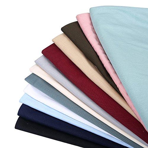 Neotrims Anti Pille Baumwolle Jersey Knit Technische Stoff, Baby Soft, Material, Test geprüft. Luxuriös Fall und Griff. Kleid und Bekleidung tragen, Großhandel und Designer Verarbeitung, 12Farben, Textil, Dusky Rose Pink, 1 Meter (Ribbon-aus Baumwolle-jersey Pink)