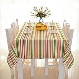 Tischdecke Baumwolle Streifen Stoff Stoff rechteckig Home Picknick Staubdicht anti-fouling Weiche Premium Tisch, 140*140cm