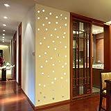 serliy 100PC 3D DIY DIY wandaufkleber wandtattoo wandsticker Baum Selbstklebende Fliese Aufkleber Küche Badezimmer Persönlichkeit kinderzimmer Dekorative wandsprüche Wandgemälde