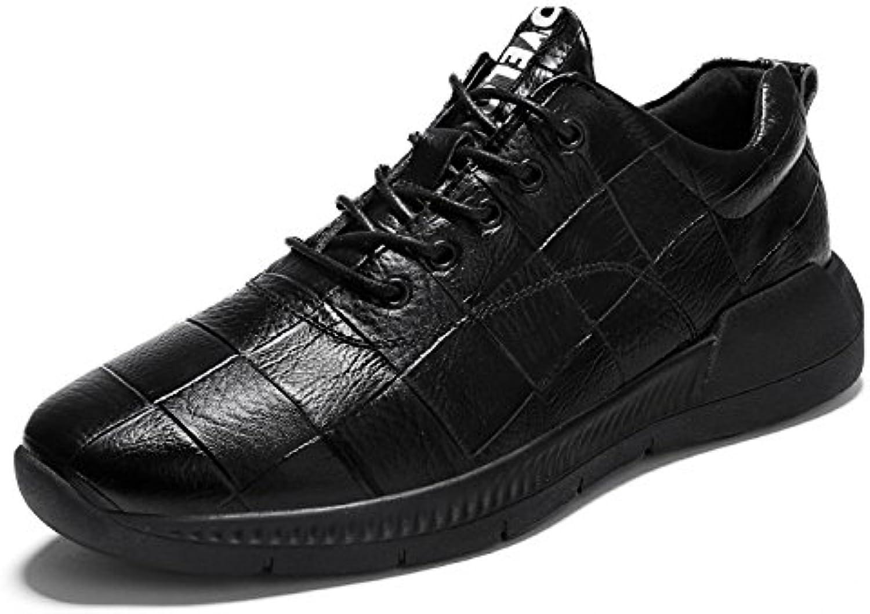 DHFUD Erhöhen Herrenschuhe Business Casual Spitze Britische Schuhe